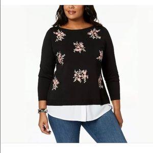 Charter Club Layered Look Sweater